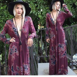 Anthropologie Tina Jo tie dye Maxi dress size S